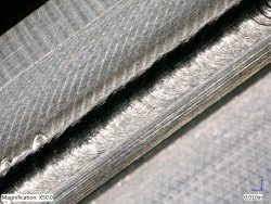An election beam weld in titanium