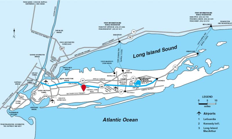 Map of Long Island Airports